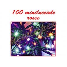 Natale - Luci natalizie 100 minilucciole rosse