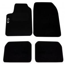 Tappetini auto in moquette con strappo compatibili per Citroen C3