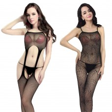 Vestiti sexy da donna nero elasticizzato 2pz  6045 / 6057