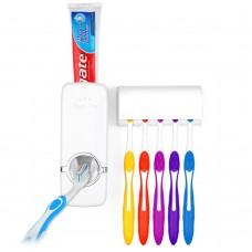 Dispenser dentifricio con portaspazzolini per 5 posti