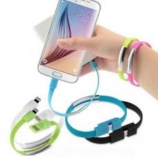 Bracciale cavo dati USB per iPhone 5/5S/6- 2pz