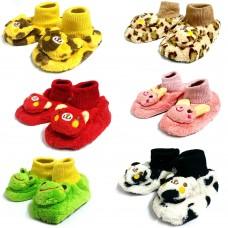 Pantofole a scarpina (2 paia) con fondo antiscivolo per la massima sicurezza del bambino (2 paia)
