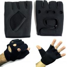 Guanti da palestra con palmo antiscivolo, con chiusura regolabile a strappo
