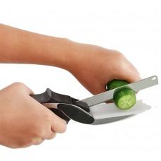 Forbici coltello da cucina con tagliere incorporato
