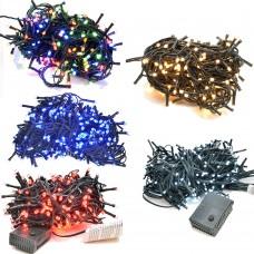 Luci decorazioni natalizie a led risparmio energetico con centralina vari effetti e colori