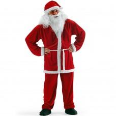 Costume da Babbo Natale in fibra pelliccia sintetica 12107