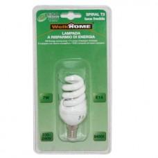 Lampadina a risparmio energetico E14 - luce fredda - 7W