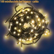 Natale - Luci natalizie 100 minilucciole led bianco calda