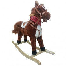 Cavallo a dondolo Marrone