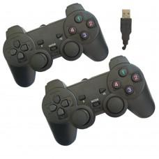 Joypad per pc 2.0 coppia joystick controller double shock 2pz