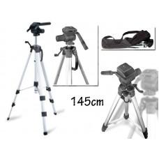Cavalletto treppiede 145 cm macchina fotografica digitale videocamera