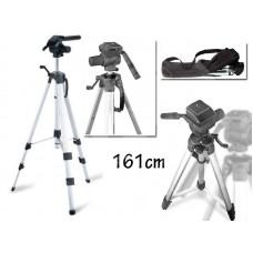 Cavalletto treppiede 161 cm macchina fotografica digitale videocamera